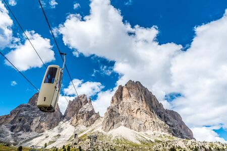 Lift in the beautiful Mountains of Dolomites,  Italy