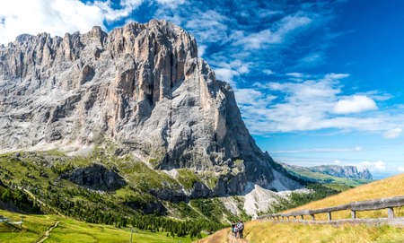 Hiking and trekking in the beautiful Mountains of Dolomites,  Italy