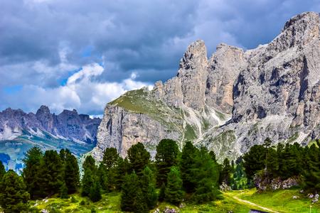 Dolomites Italy - Val Gardena -  Passo Sella
