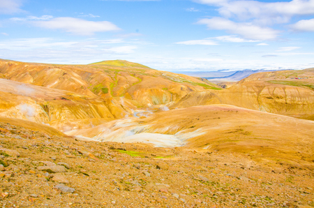 Iceland Kerlingarfjöll - Vulcanic Landscape with hot springs and steaming strams