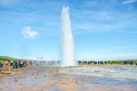 eruption: Geysir Strokkur - Biggest Geysir of Europe