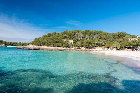 mallorca: Cala Mondrago - beautiful beach and coast of Mallorca Stock Photo