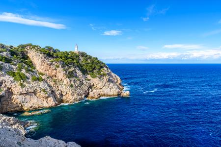 mallorca: Lighthouse at cala Rajada, Mallorca - Spain