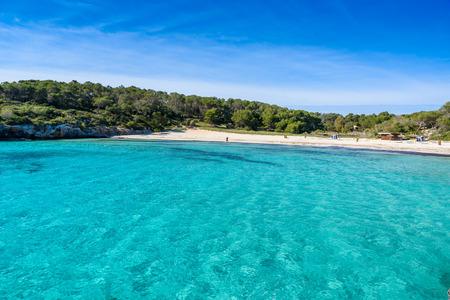 Beautiful Beach of Cala SAmarador at Mondrago - Natural Park on Majorca Spain, Balearic Islands, Mediterranean Sea, Europe