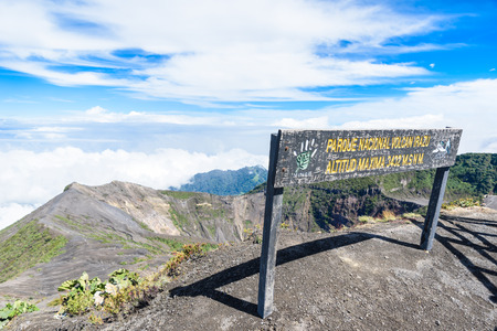 crater lake: Irazu volcano - crater lake - Costa Rica Editorial
