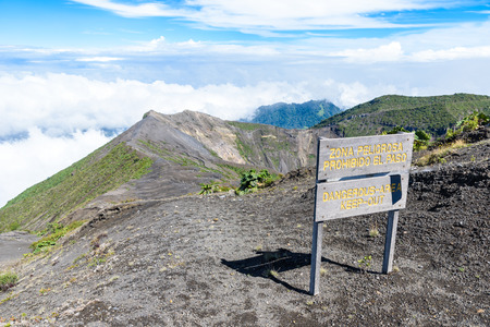 Irazu volcano - crater lake - Costa Rica Editorial