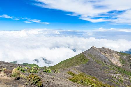 erupting: Irazu volcano - crater lake - Costa Rica Stock Photo