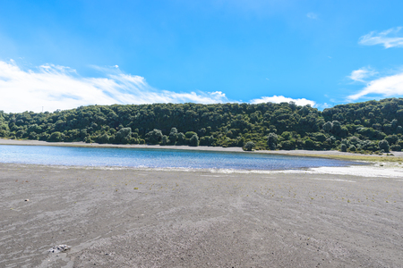 Irazu volcano - crater lake - Costa Rica Stock Photo