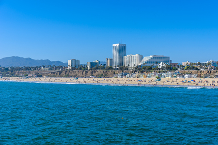 サンタモニカ ・ ビーチ、ロサンゼルス、カリフォルニア、アメリカ合衆国
