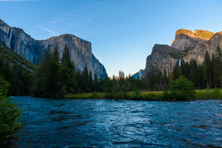 Valley View, Yosemite National Park, California, USA Stock Photo