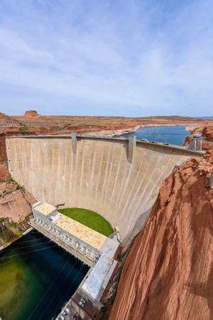 Glen Canyon Dam at Colorado River, Lake Powell, Arizona, USA