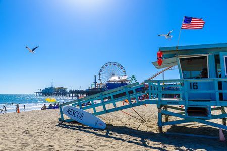Santa Monica Beach, Los Angeles, California, USA