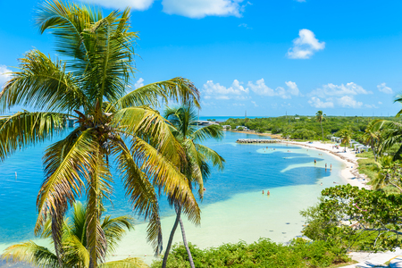 Calusa Beach, Florida Keys - tropical coast with paradise beaches - USA