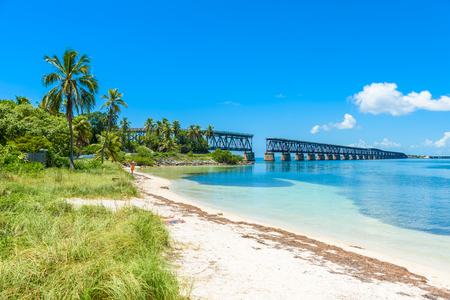 Bahia Honda State Park - Calusa Beach, Florida Keys - tropical coast with paradise beaches - USA Stock Photo