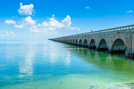 Long Bridge at Florida Keys - Historic Overseas Highway And 7 Mile Bridge to get to Key West, Florida, USA