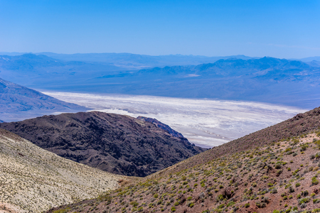 Badwater basin seen from Dantes view, Death Valley National Park, California, USA.