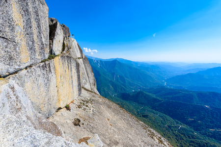 View from the Moro Rock - Hiking in Sequoia National Park, California, USA Stock Photo