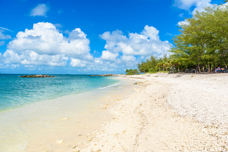 Paradise beach at Fort Zachary Taylor Park, Key West. State Park in Florida, USA. Stock Photo