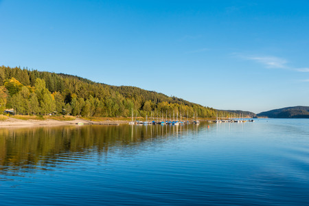 Schluchsee lake in the blackforest Foto de archivo