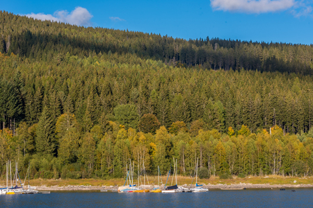 Schluchsee lake in the blackforest Stock Photo