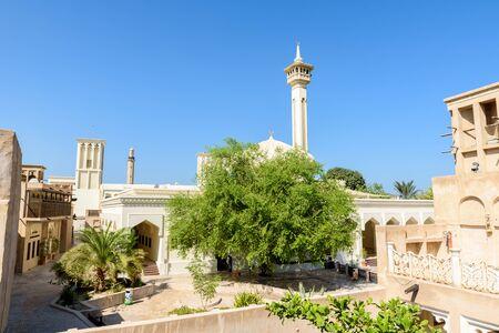 Bastakiya - old town with arabic architecture in Dubai, UAE Foto de archivo