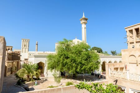 Bastakiya - old town with arabic architecture in Dubai, UAE 免版税图像