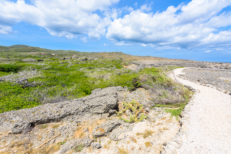 Shete Boka National park - Amazing landscape scenery around the small Caribbean island of Curacao in the ABC islands - Crashing waves at the beach and the beautiful coastline