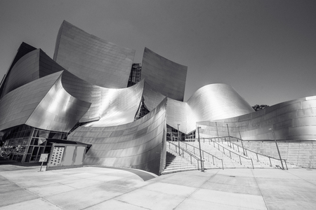 LOS ANGELES, California, USA - June 13, 2017: Walt Disney Concert Hall in downtown Los Angeles designed by Frank Gehry, home of the Los Angeles Philharmonic orchestra and the Los Angeles Master Chorale. Stock Photo - 106524275