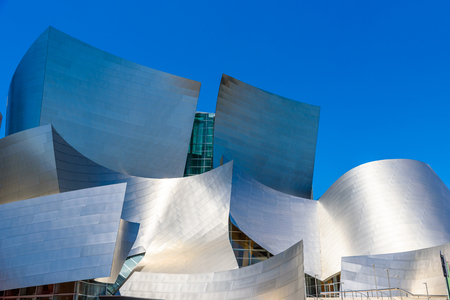 LOS ANGELES, California, USA - June 13, 2017: Walt Disney Concert Hall in downtown Los Angeles designed by Frank Gehry, home of the Los Angeles Philharmonic orchestra and the Los Angeles Master Chorale. Stock Photo - 106524268