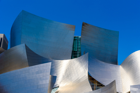 LOS ANGELES, California, USA - June 13, 2017: Walt Disney Concert Hall in downtown Los Angeles designed by Frank Gehry, home of the Los Angeles Philharmonic orchestra and the Los Angeles Master Chorale. Stock Photo - 106524269