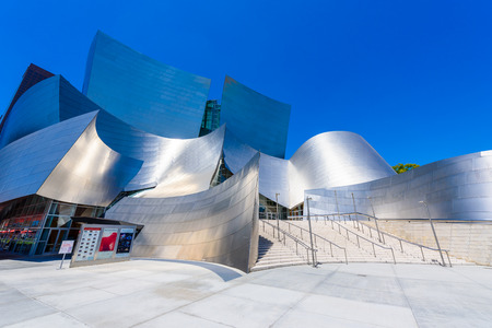 LOS ANGELES, California, USA - June 13, 2017: Walt Disney Concert Hall in downtown Los Angeles designed by Frank Gehry, home of the Los Angeles Philharmonic orchestra and the Los Angeles Master Chorale. Stock Photo - 106524264