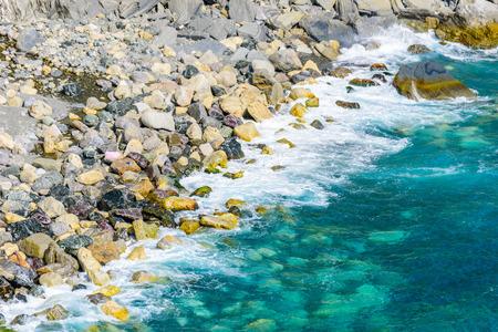 Beautiful beach at Cinque Terre National Park in Luguria, Italy 版權商用圖片