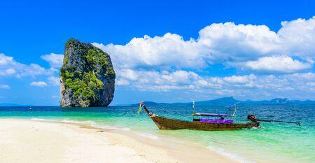 Poda Island - Paradiesstrand in tropischer Landschaft - in der Nähe von Ao Nang, Bucht von Ao Phra Nang, Krabi, Thailand.