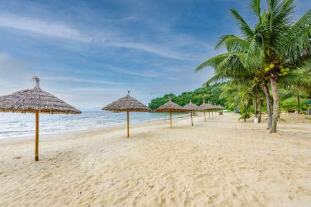 Tien Sa Beach - paradise beach at tropical coast scenery in Da Nang - travel destination in Vietnam