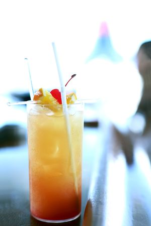 Tequila Sunset Mocktail Stock Photo