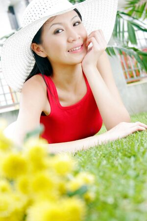 Young Asian Female Outdoors photo