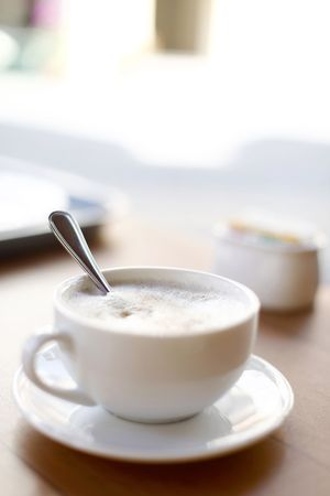 Single Cup of Cappuccino Coffee photo