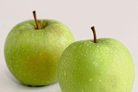 Two Fresh Green Apples photo