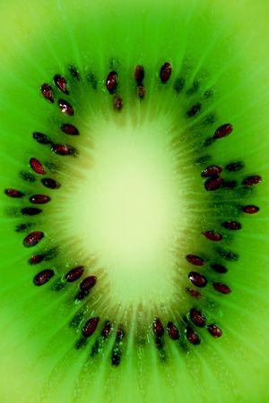 vertical wellness: Close up of a Cut Kiwi Fruit Stock Photo