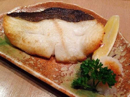 Cod Fish Served Japanese Style