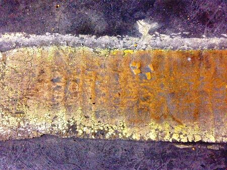 yellow line: Yellow Line on Concrete Grunge Texture