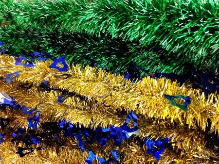 december 25th: Festive Christmas Tinsel Background Stock Photo