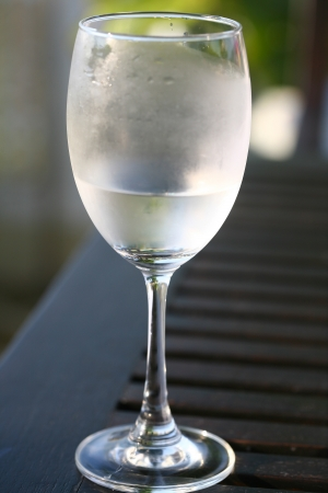 thirst quenching: Glass of Iced Water
