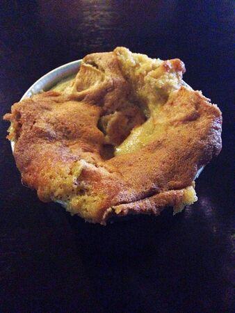 metallic: Small Apple Pie in a Metallic Dish