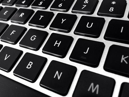teclado de computadora: Primer plano del teclado de ordenador