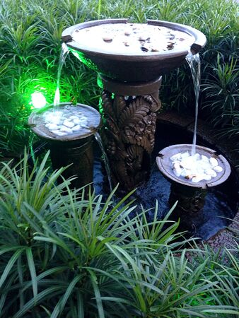 water feature: Water Feature in a Natural Green Environment