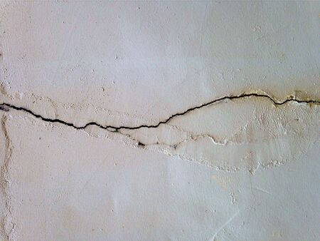 surface: Crack in Painted Concrete Wall Texture