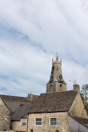 Church Spire in Minchinhampton, The Cotswolds, England