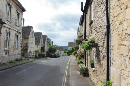 Street in Minchinhampton, The Cotswolds, England