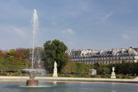 Fountain in Tuileries Gardens, Paris, France Stock Photo